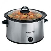 Crock Pot 3040BCNP 4 QT Round Manual Stainless Slow Cooker
