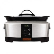 Crock Pot SCCPBP600S 6 Quart Oblong Smart-Pot Black and Stainless Slow Cooker