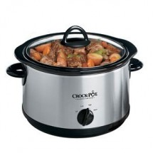 Crock Pot SCR503SP 5 Quart Round Manual Smudge-Proof Slow Cooker w/Dipper