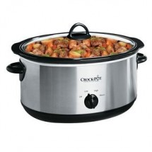 Crock Pot SCV700SS 7 Quart Oval Manual Slow Cooker, Stainless Steel