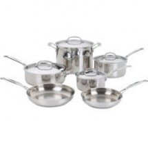 Cuisinart 77-10 Chef's Class Stainless 10 Piece Cookware Set