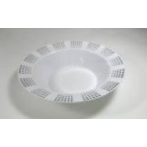 EZWare 6051 Empress Premium Plastic Bowl with Silver Rim 12 oz.