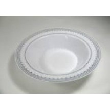 EZWare 6059 Princess Premium Plastic Bowl with Silver Rim 12 oz.