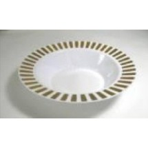 EZWare 6071 Casino Premium Plastic Bowl with Gold Rim 12 oz.
