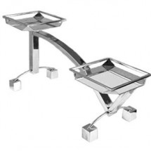 Eastern Tabletop 1705 Stainless Steel 2 Tier Square Riser