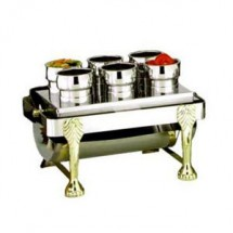Eastern Tabletop 2106 Silver Sauce Station & Condiment  Inset