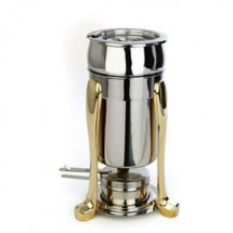 Eastern Tabletop 3101PL Marmite 2 Qt. Soup Chafer with Brass accents