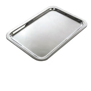 "Eastern Tabletop 4492 Silver Grandeur 15"" x 11"" Rectangular Tray"