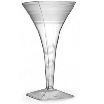 Fineline Settings 1209CL Wavetrends Clear 8 oz. Martini Glass