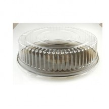 Fineline Settings 9401-L Platter Pleasers Clear 14&quot; Dome Lid (PET)-25 pcs