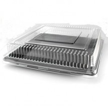 Fineline Settings 9581-L Platter Pleaser Clear 18x18 Square Dome Lid-40 pcs