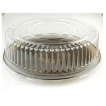 Fineline Settings 9801-L Platter Pleasers Clear 18&quot; Dome Lid (PET)-25 pcs