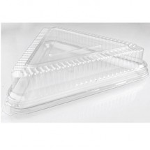 Fineline Settings Platter Pleasers Clear 16x16x16 Triangle Dome Lid-40 pcs