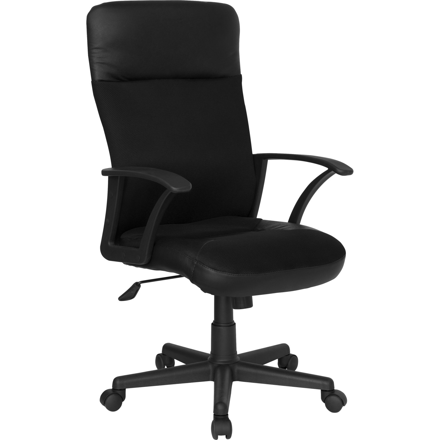 Flash Furniture CP A142A01 GG High Back Black Leather