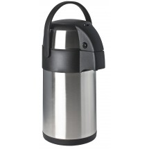 Focus Foodservice 908825PB 2.5 Liter Stainless Steel Airpot with Push Button