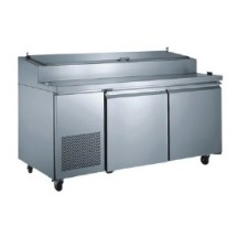 Food Machinery of America PICL2 Two section Refrigerated Pizza Prep Table