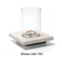 Hollowick ZEN-WMB White Marble Single Zen Base