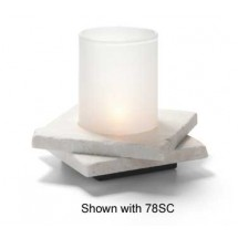 Hollowick ZEN-WMB2 White Marble Double Zen Base