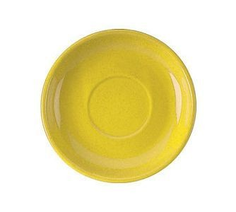 "ITI 822-242s 6-1/8"" Yellow Vitrified Latte saucer - 2 Doz"