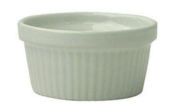 ITI RAMF-4-EW  4 oz. European White Fluted Ramekin - 3 Doz