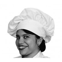 Johnson Rose 30964 White Chef's Hat Poly / Cotton