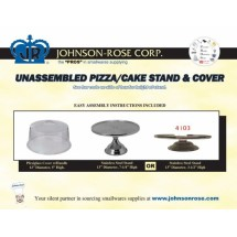 Johnson Rose 41033 Cake and Pastry Display Stand Set with Plexiglass Cover 13