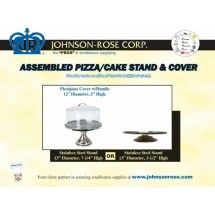 Johnson Rose 4105 Cake and Pastry Display Stand Set With Plexiglass Cover  13