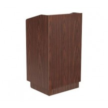 Johnson Rose POD-2 Walnut Maitre D' Station/Podium with Touch Latch Doors