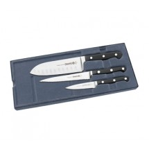 Mundial 5000-3GE 3-Piece Fully Forged Knives with Black Polyacetal Handles
