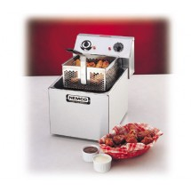 Nemco 6701 Countertop Electric Single Tank Fryer with 15 Minute Bell Timer