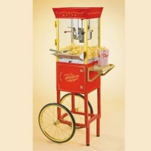 Nostalgia CCP510 Old Fashioned Movie Time Popcorn Cart