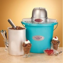 Nostalgia ICMP400BLU Old Fashioned Ice Cream Maker with a Blue Bucket