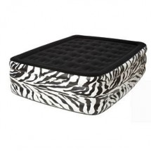 Pure Comfort 8508ZDB Zebra Queen Raised Flock Top Air Bed