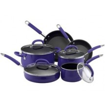 Rachael Ray 13482 Porcelain Enamel 10 Piece Set in Blue