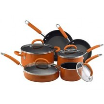 Rachael Ray 13486 Porcelain Enamel 10 Piece Set in Orange