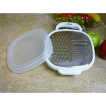 Ragalta RSG300 3 in 1 Stainless Steel Grater with Plastic Storage Container