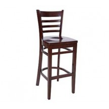 Royal Industries ROY 8002 W European BeechWood Bar Stools with Walnut Finish Seat