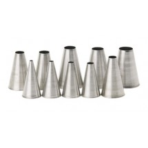 Royal PST 3 PL Stainless Steel Size 3 Pastry Tube with Plain Tip