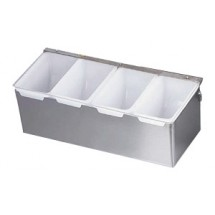 Royal ROY CDS 4 Stainless Steel 4 Compartment Condiment Dispenser with Plastic Inserts