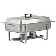 Royal ROY COH 2  8 Qt. Stainless Steel Rectangular Continental Chafer