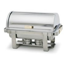 Royal ROY COH 4  8 Qt. Roll Top Stainless Steel  Chafer