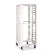 Rubbermaid 332000OWHT Max System Rack 18 Slot End Loader for Food Boxes and Sheet Pans