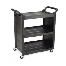Rubbermaid 342100BLA Utility Cart with 3 Shelves