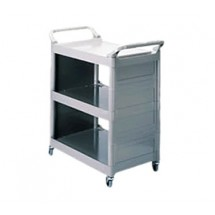 Rubbermaid 342100PLAT Utility Cart with 3 Shelves