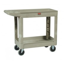 Rubbermaid 450088BEIG Utility Cart with Two Shelves