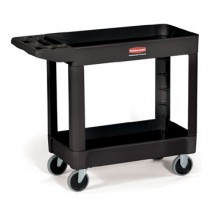 Rubbermaid 450088BLA Utility Cart with Two Shelves