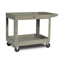 Rubbermaid 452088BEIG Utility Cart with Two Shelves