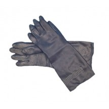 San Jamar 238SF-M Medium Black Neoprene Flocked Glove