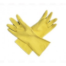 San Jamar 620-L Large Yellow Latex Flocked Glove