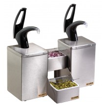 San Jamar P4826BK Frontline Countertop Dual Condiment System With Black Finish